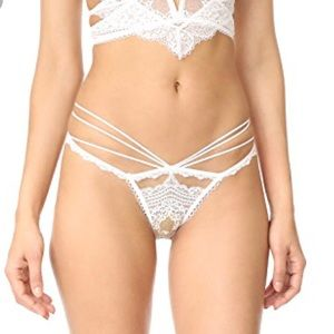 For Love & Lemons Etienne Lace Thong in XS